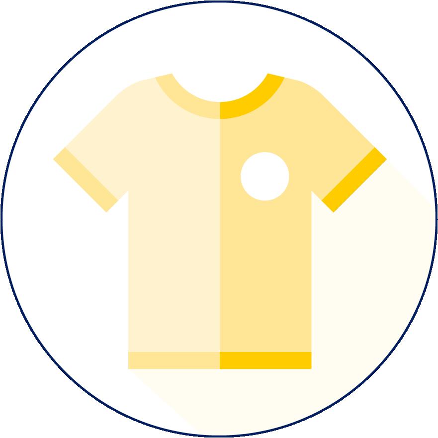 Promotie- en werkkleding icoon